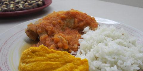 Ragout de poulet plat typique equatorien