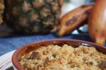 crumble ananas banane recette typique equateur