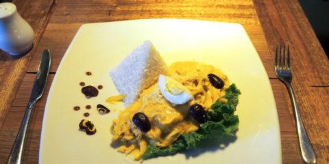 Plat péruvien typique : aji de gallina