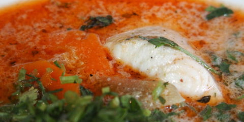 recette de cuisine typique chilienne : caldillo de congrio